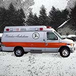 One Of Santa's Reindeer Ambulances Is Seen Outside The Reindeer Hotel That Chuckman Crashed Into