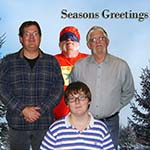 From Us To You - God Bless And Merry Christmas (Happy Hanukkah)!  Back: Robert, Chuckman, Chuck.  Front: Robert (nephew)