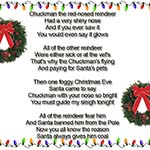 Chuckman The Red-Nosed Reindeer Lyrics Surrounded By Christmas Lights And Two Wreaths