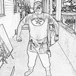 A Collection Of Chuckman Superhero Images That You Can Print And Color