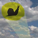 Chuckman's Signal, A Snail, Is Flashed In The Sky (On Clouds) By The City Of Metropular