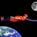 Chuckman Flies Backward Through Space So Quickly That He Travels Back In Time