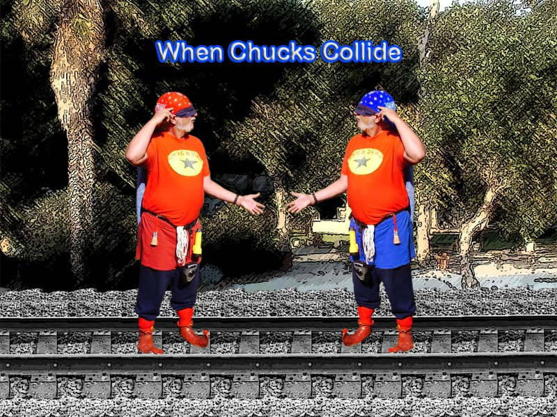 When Chucks Collide (A Chuckman Divided Against Himself Cannot Stand)